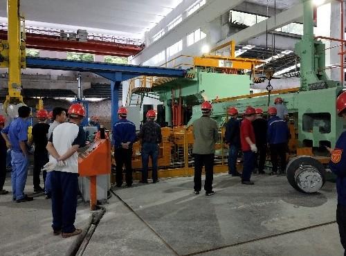 喜讯:正合铝业集团7000吨挤压机试产成功